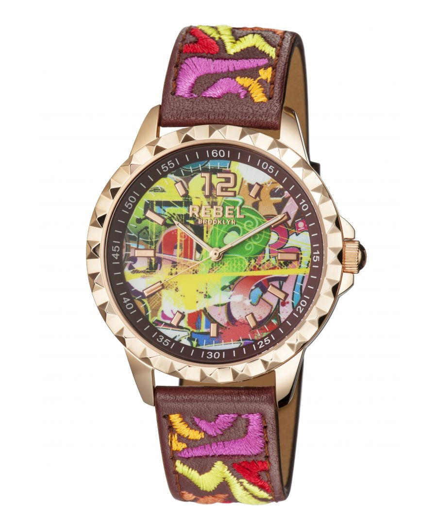 Image for Rebel Womens Dumbo Burgundy Dial Leather Watch