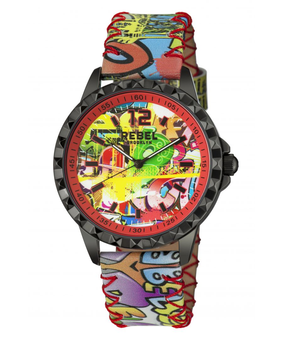 Image for Rebel Womens Dumbo Coral Dial Leather Watch