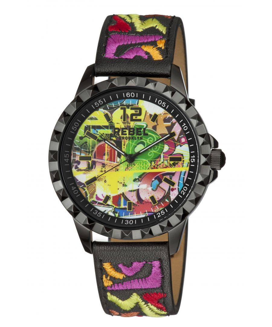 Image for Rebel Womens Dumbo Black Dial Leather Watch