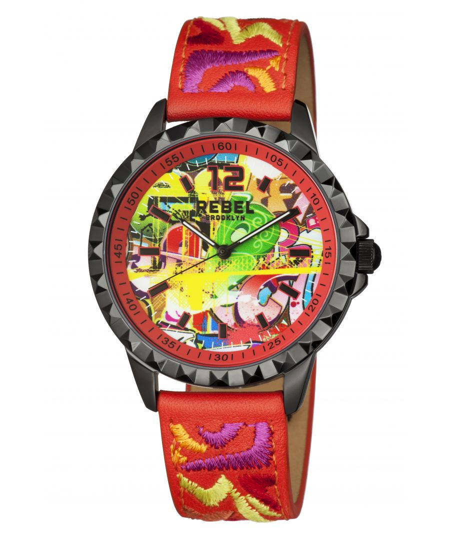 Image for Rebel Womens Dumbo Red  Dial Leather Watch