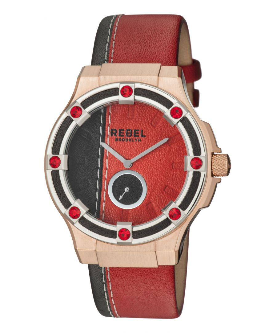 Image for Rebel Womens Flatbush Burgundy/Black Dial Leather Watch