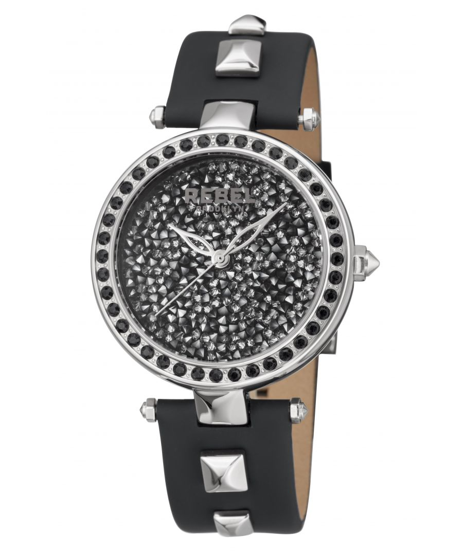 Image for Rebel Womens Rockaway Parkway Black Dial Leather Watch