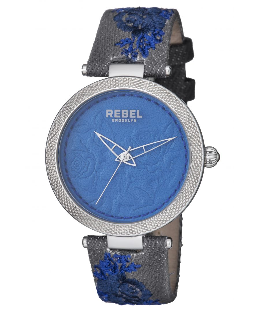 Image for Rebel Womens Carroll Gardens Navy Dial Cloth Watch