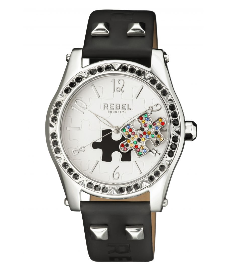 Image for Rebel Womens Gravesend White Dial Leather Watch