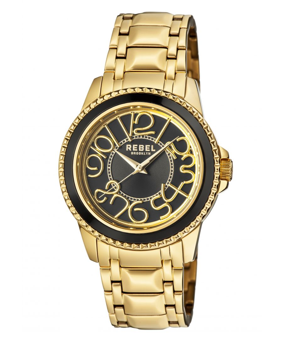 Image for Rebel Unisex Williamsburg Black Dial Stainless Steel Watch