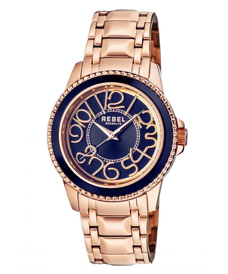 Image for Rebel Unisex Williamsburg Blue Dial Stainless Steel Watch