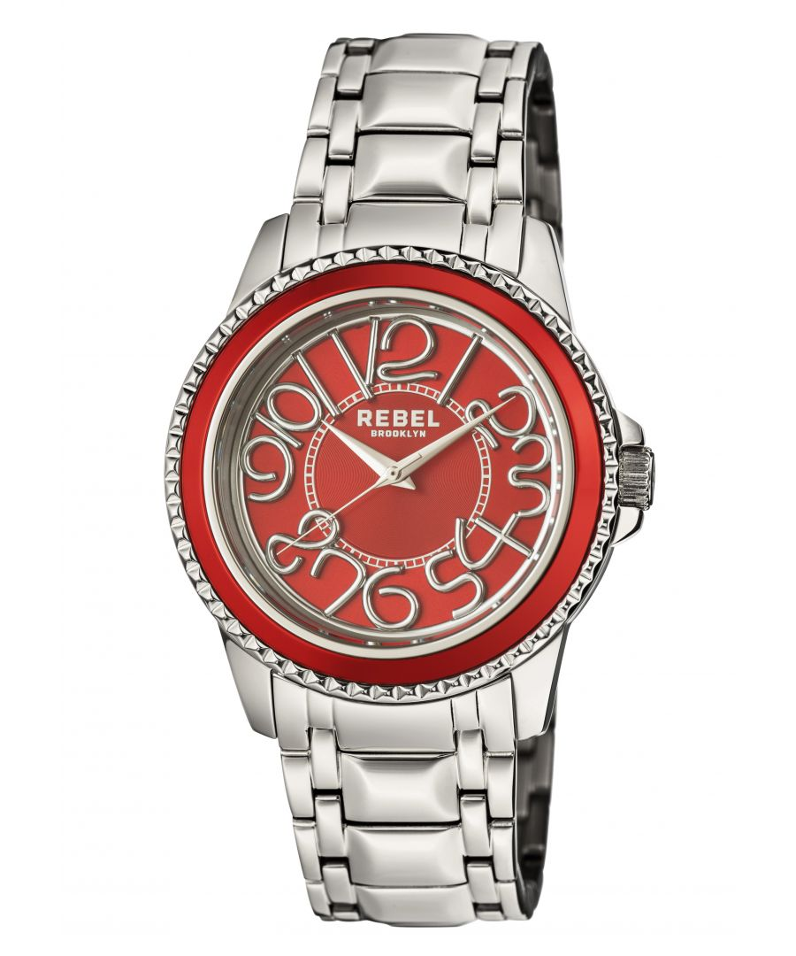 Image for Rebel Unisex Williamsburg Red  Dial Stainless Steel Watch
