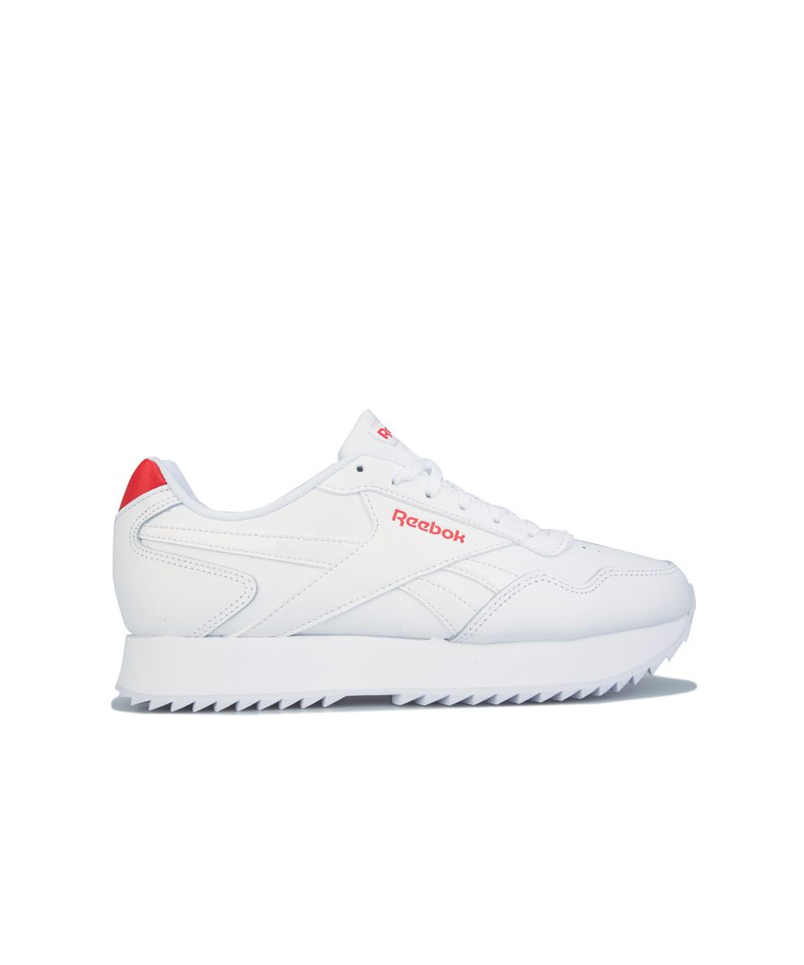 Image for Women's Reebok Classics Royal Glide Ripple Double Trainers in White red