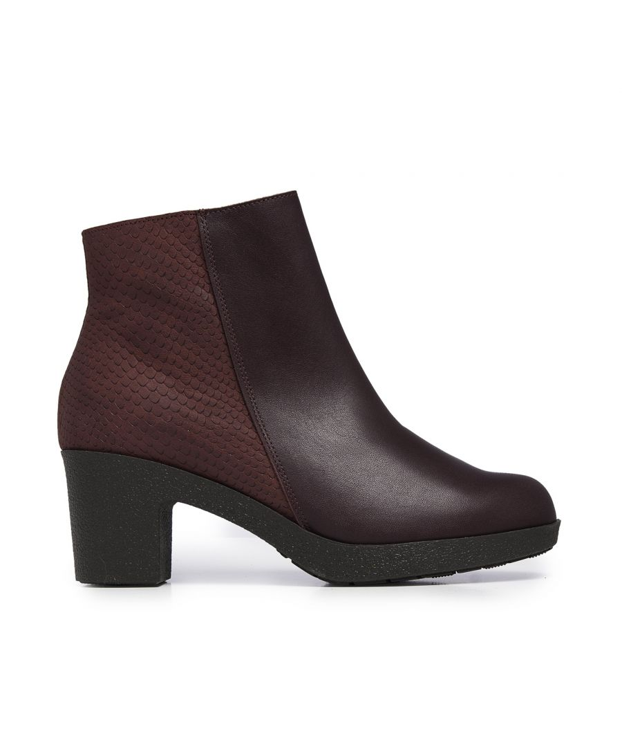 Image for Leather Ankle Bordeaux Boot