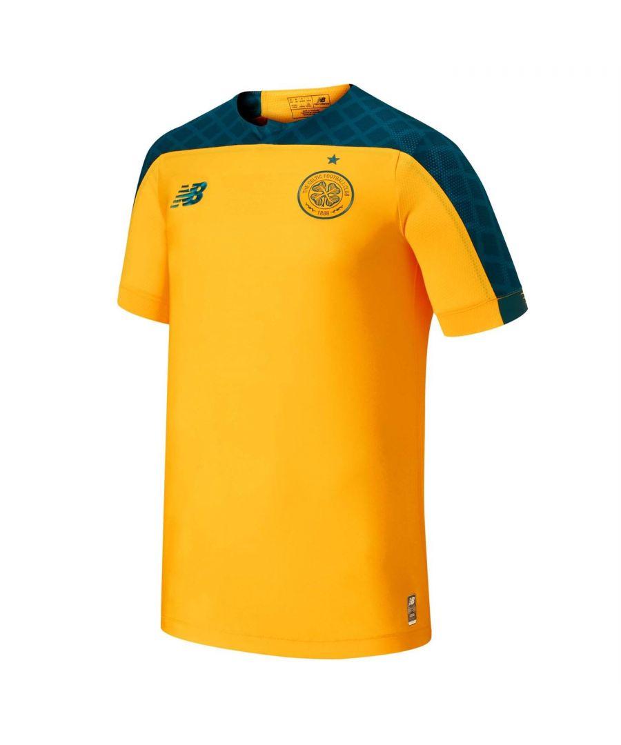 Image for New Balance Kids Boys Celtic Away Short Sleeve T Shirt Tee Top 2019 2020 Junior
