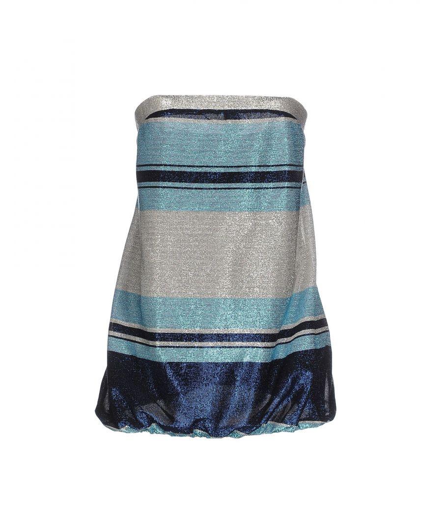 Image for Nenette Dark Blue Stripe Strapless Top