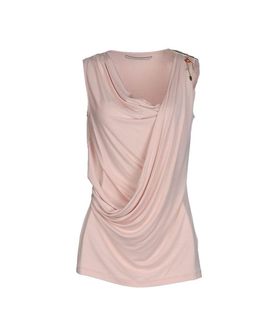 Image for Nenette Light Pink Jersey Draped Sleeveless Blouse