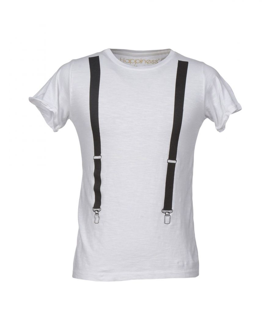 Image for Happiness White Cotton T-Shirt
