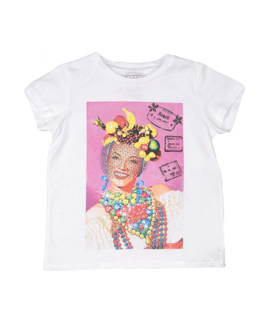 Image for Stella Jean Girl T-shirts White Cotton
