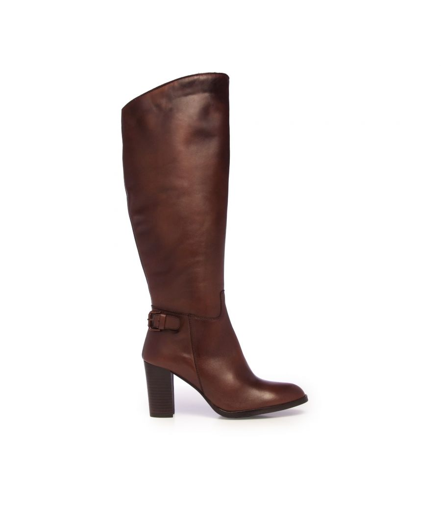 Image for Leather High Boot Heel