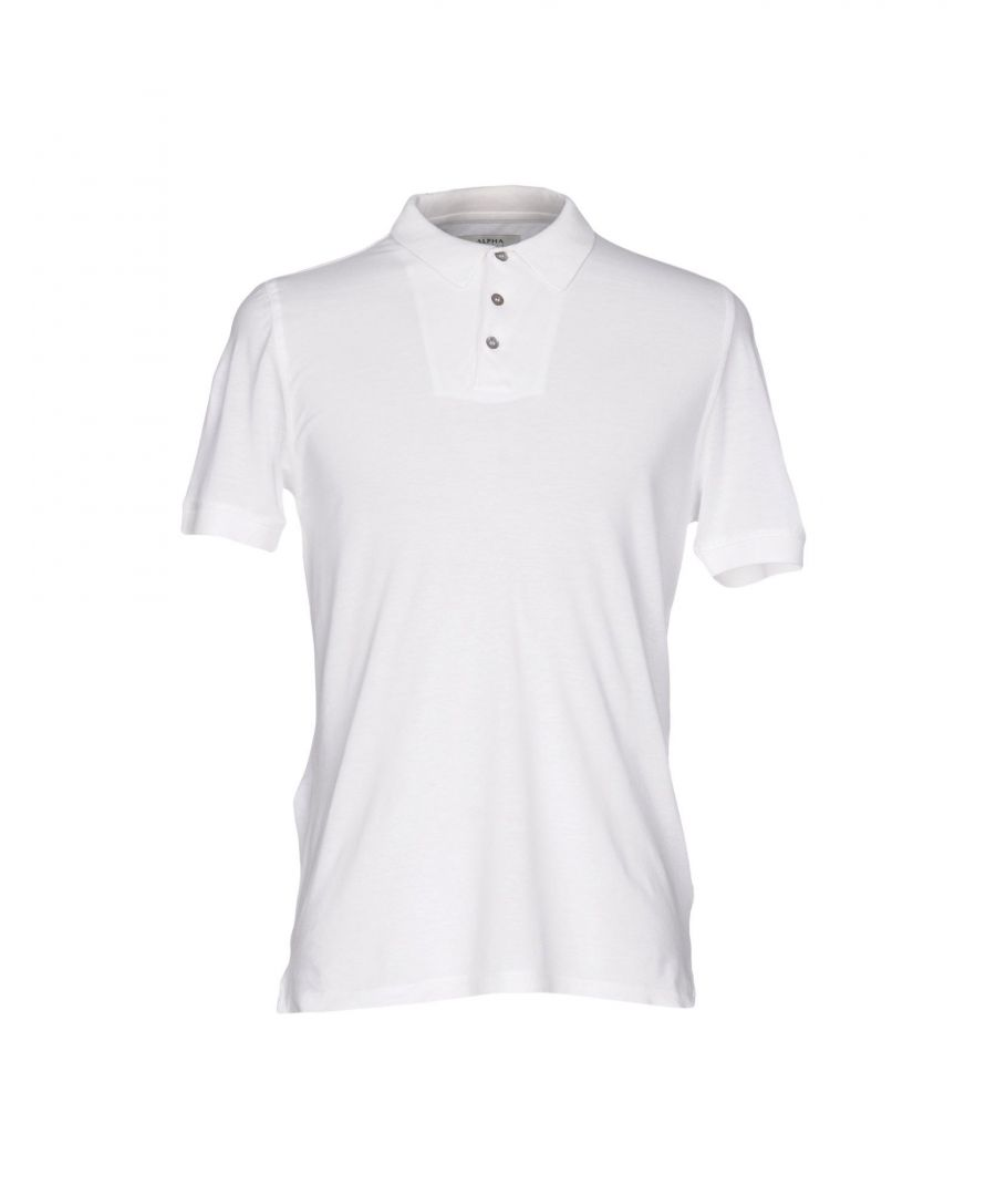 Image for Alpha Studio White Cotton Polo Shirt