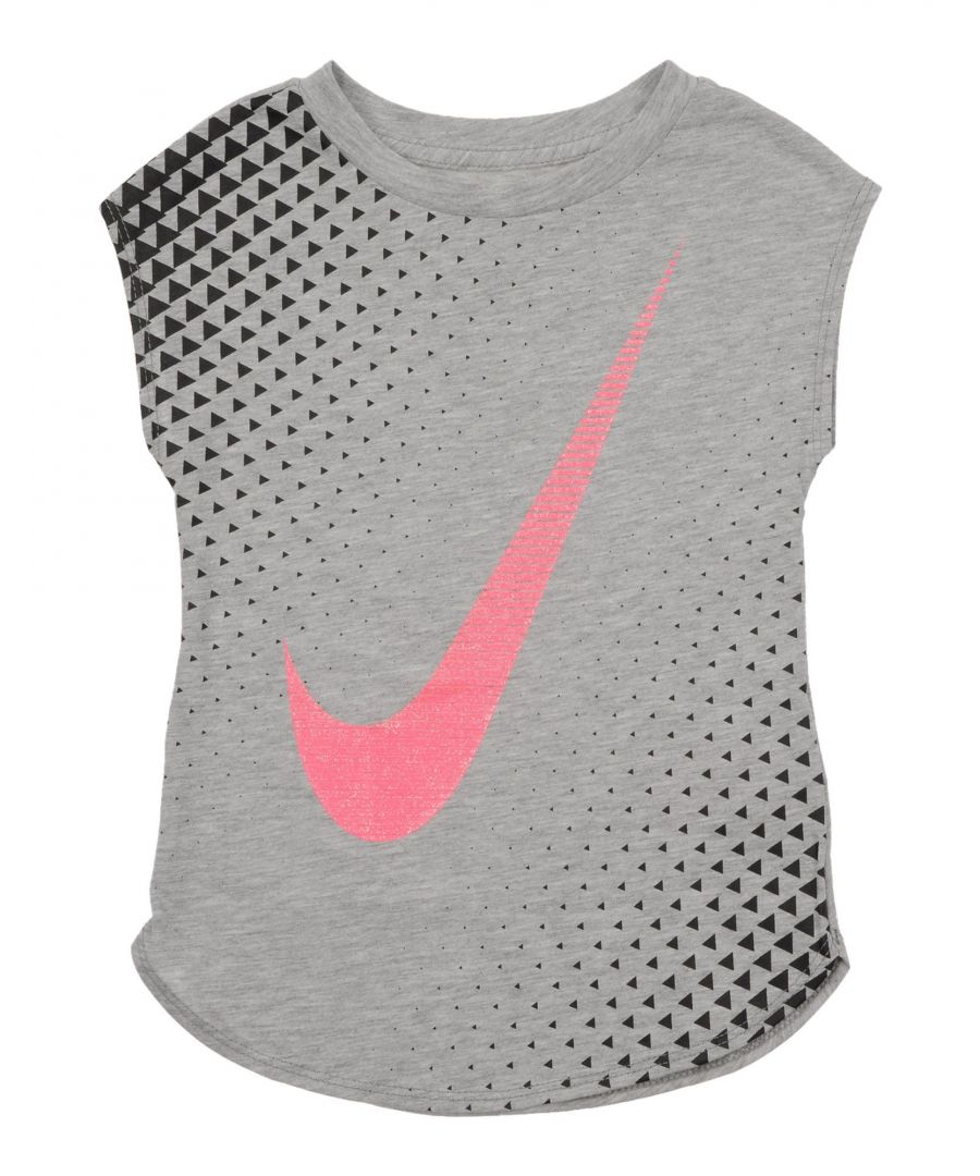 Image for Nike Grey Girl Cotton Top