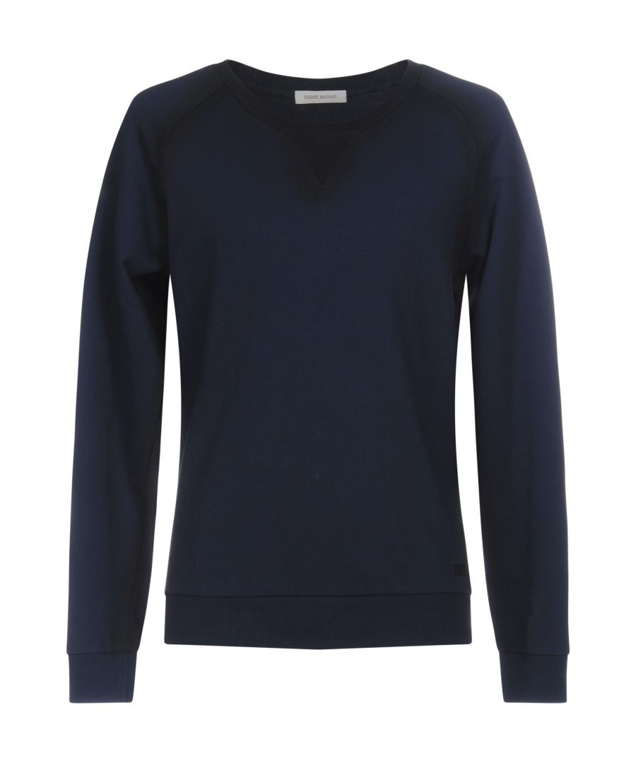 Image for Pierre Balmain Dark Blue Cotton Jumper