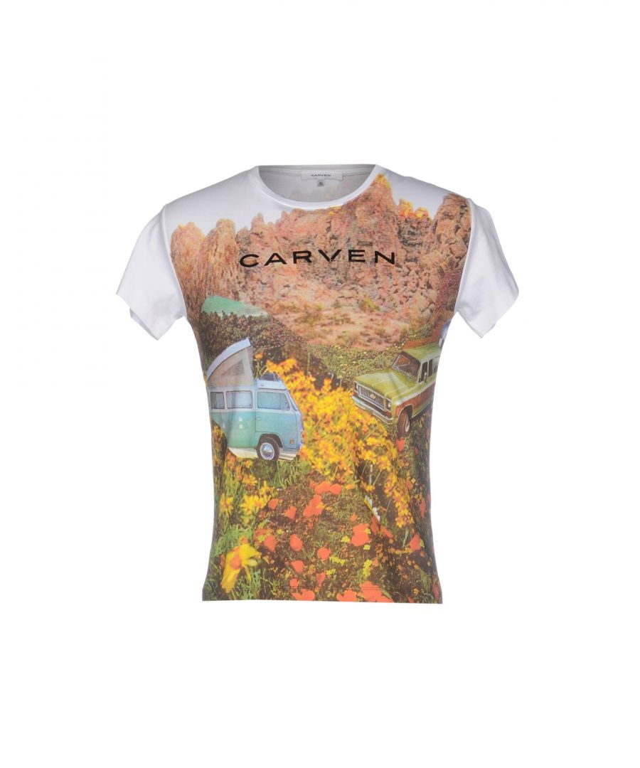 Image for Carven White Print Cotton T-Shirt