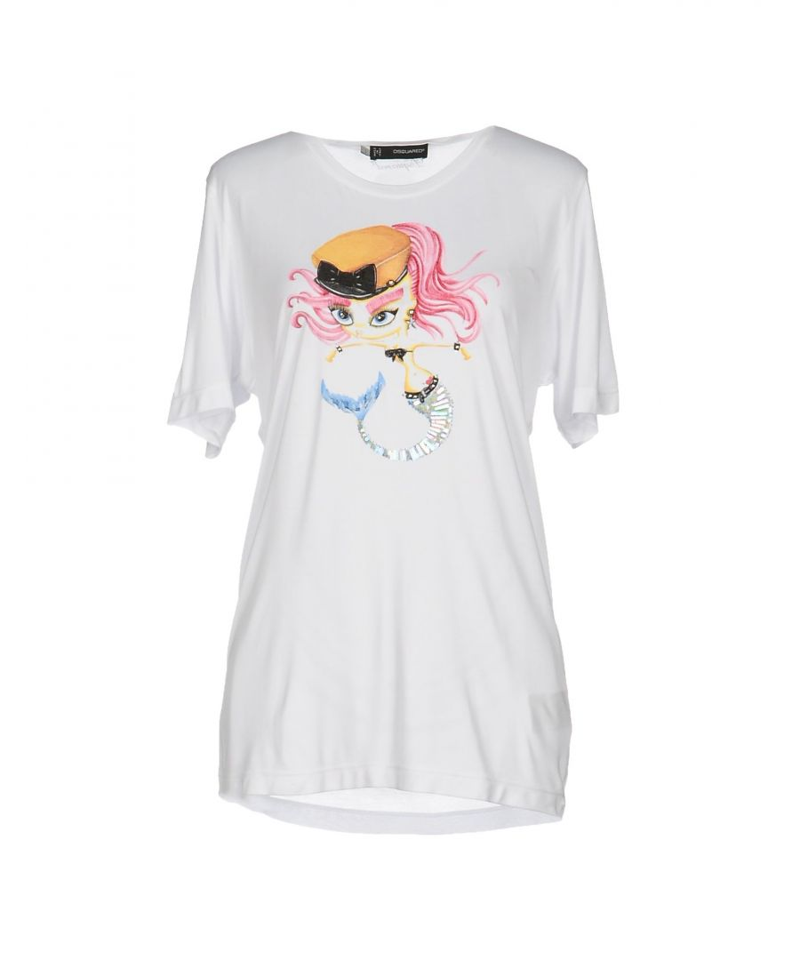 Image for Dsquared2 White Modal Jersey T-Shirt