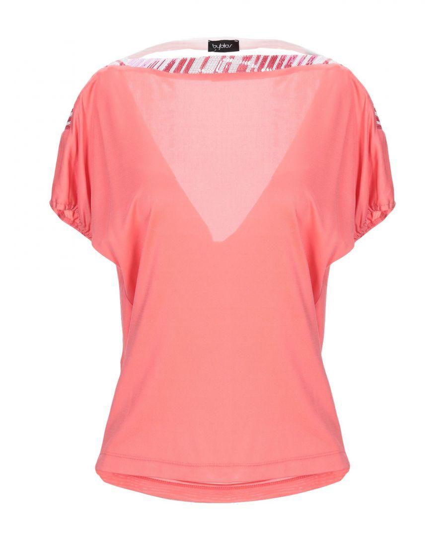 Image for Byblos Women's T-Shirt Pastel Pink Viscose