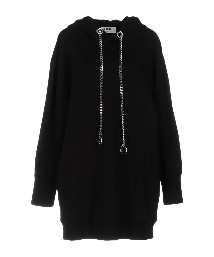 Image for MSGM Black Cotton Sweatshirt Dress