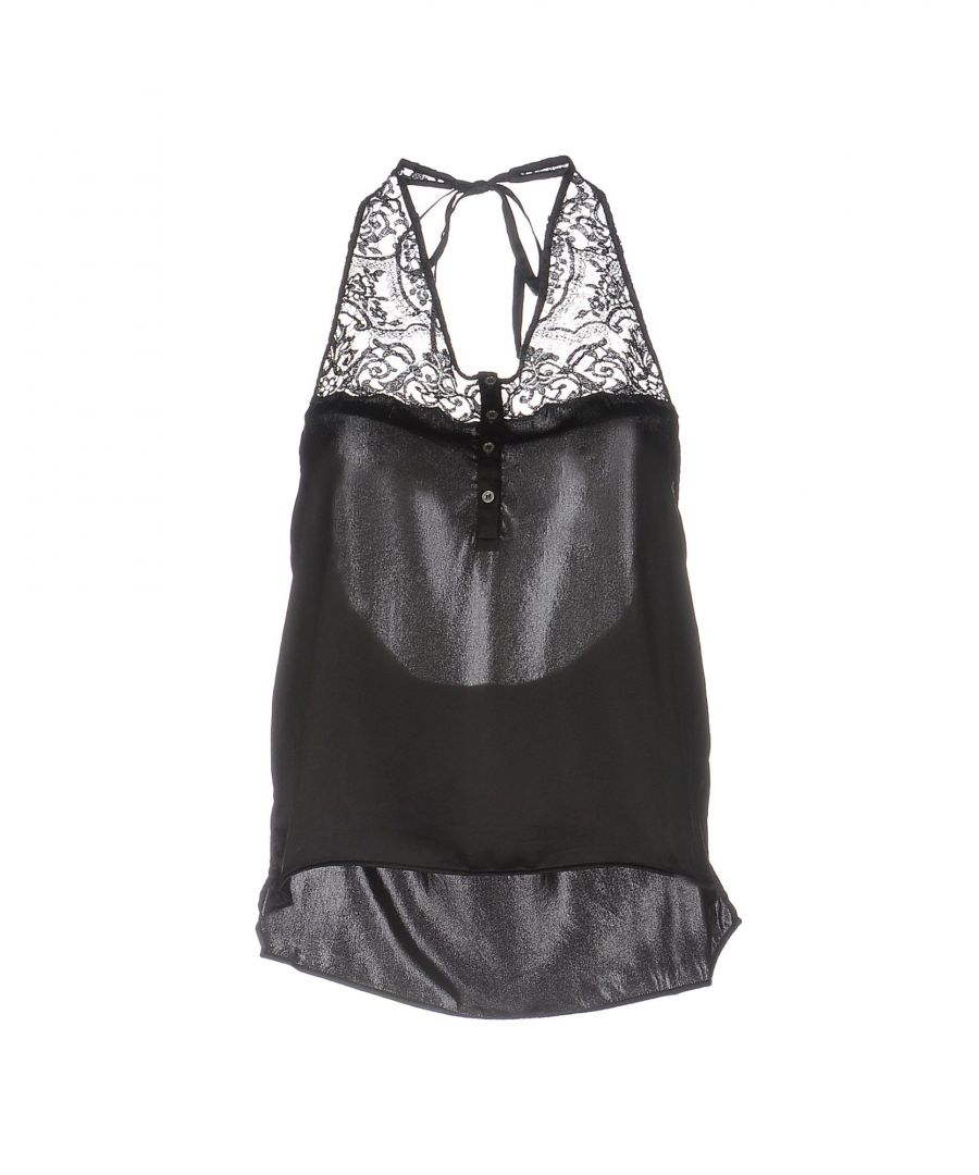 Image for Faith Connexion Black Silk And Lace Camisole