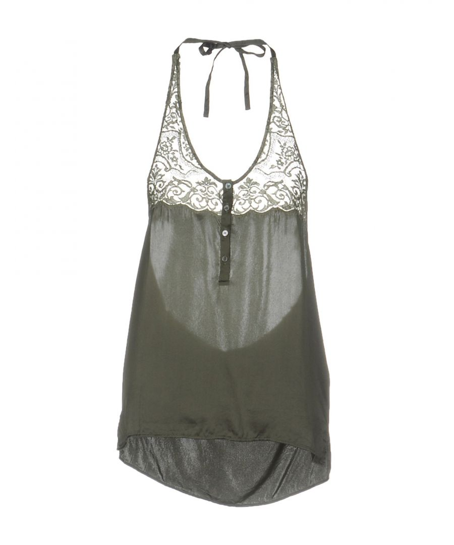 Image for Faith Connexion Military Green Silk And Lace Camisole
