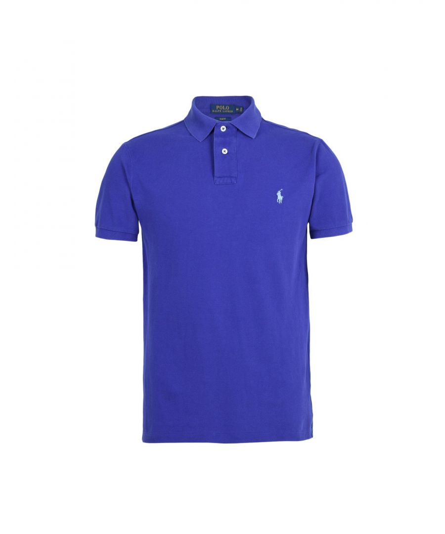 Image for Polo Ralph Lauren Bright Blue Cotton Polo Shirt