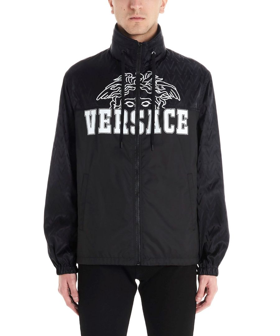 Image for VERSACE MEN'S A84360A232567A4008 BLACK POLYAMIDE OUTERWEAR JACKET