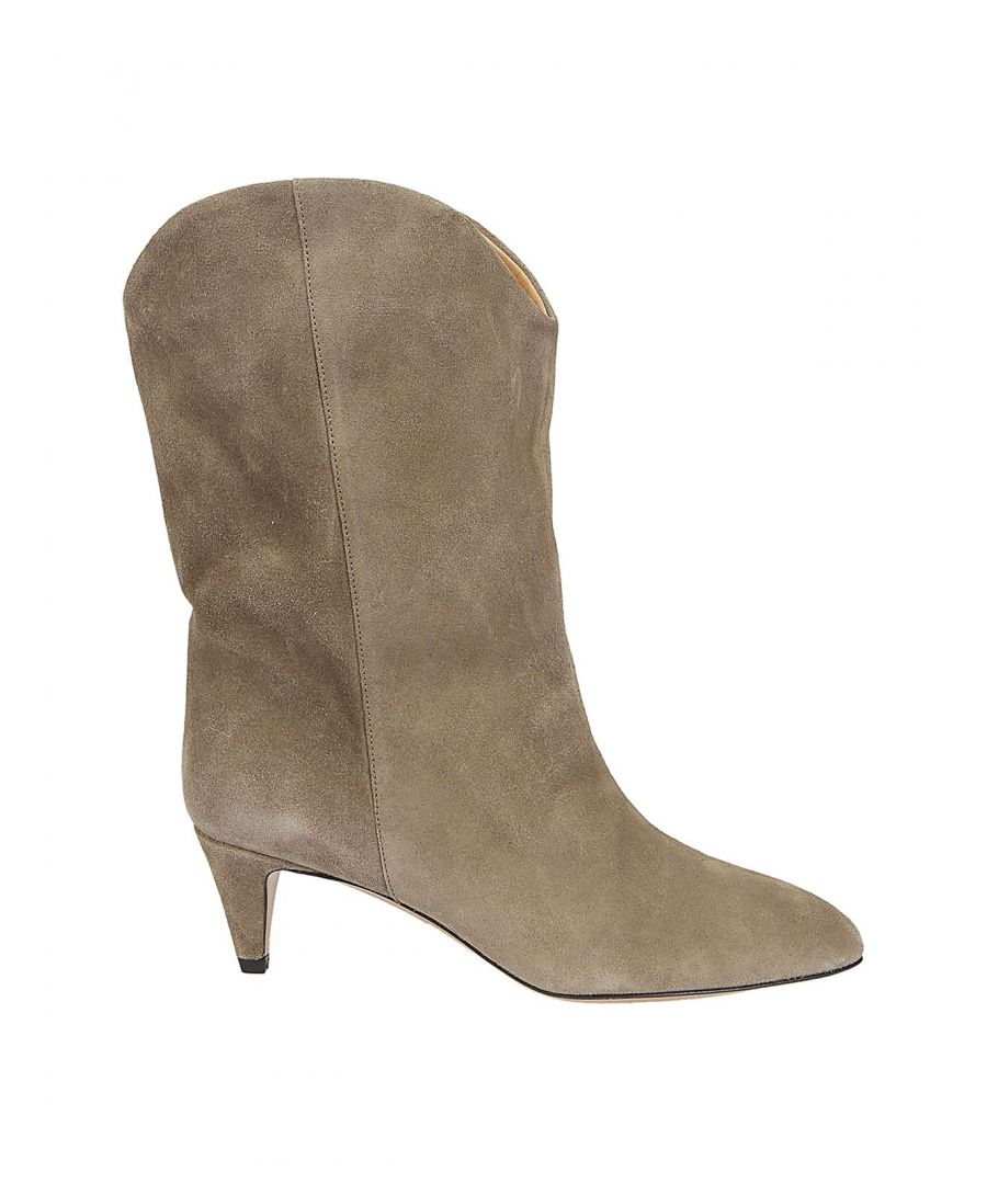 Image for ISABEL MARANT WOMEN'S BT004920P010S50TA BEIGE SUEDE ANKLE BOOTS