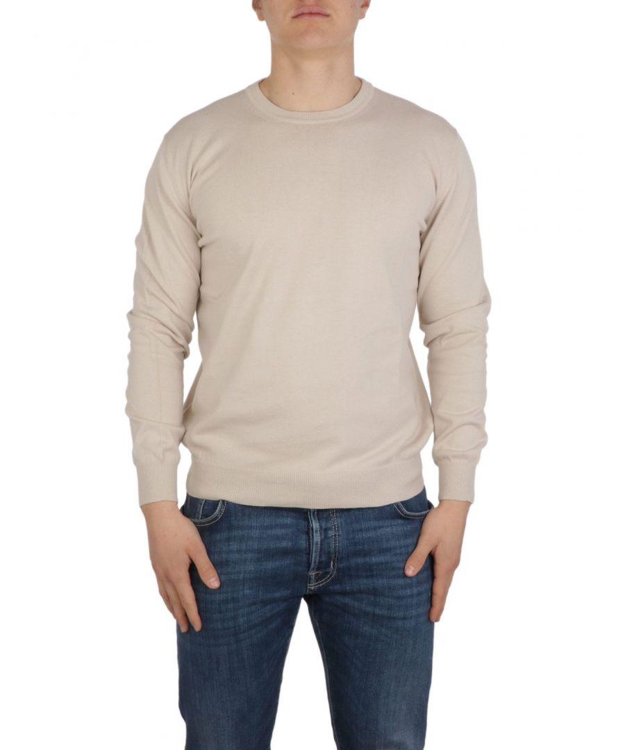 Image for ALTEA MEN'S 205101831 BEIGE COTTON SWEATER
