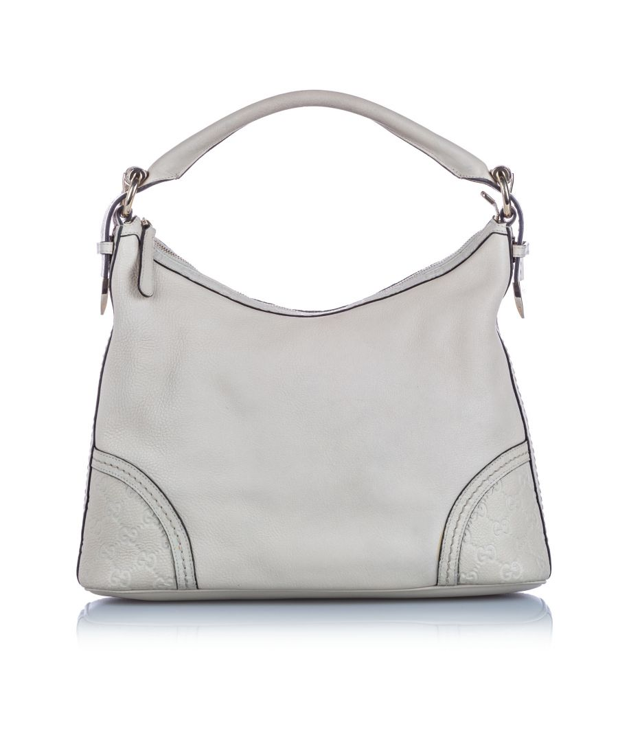 Image for Vintage Gucci Guccissima Leather Signoria Shoulder Bag White