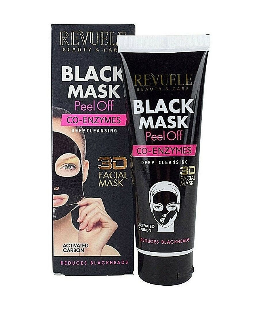 Image for Revuele Peel Off 3D Black Face Mask CO-ENZYMES Facial Cleaner Blackhead Remover - Pack of 2
