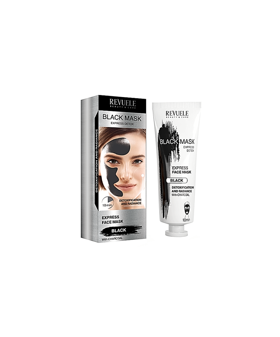 Image for Revuele Black Express Detox Deep Cleansing Instant Action Charcoal Face Mask - Pack of 2