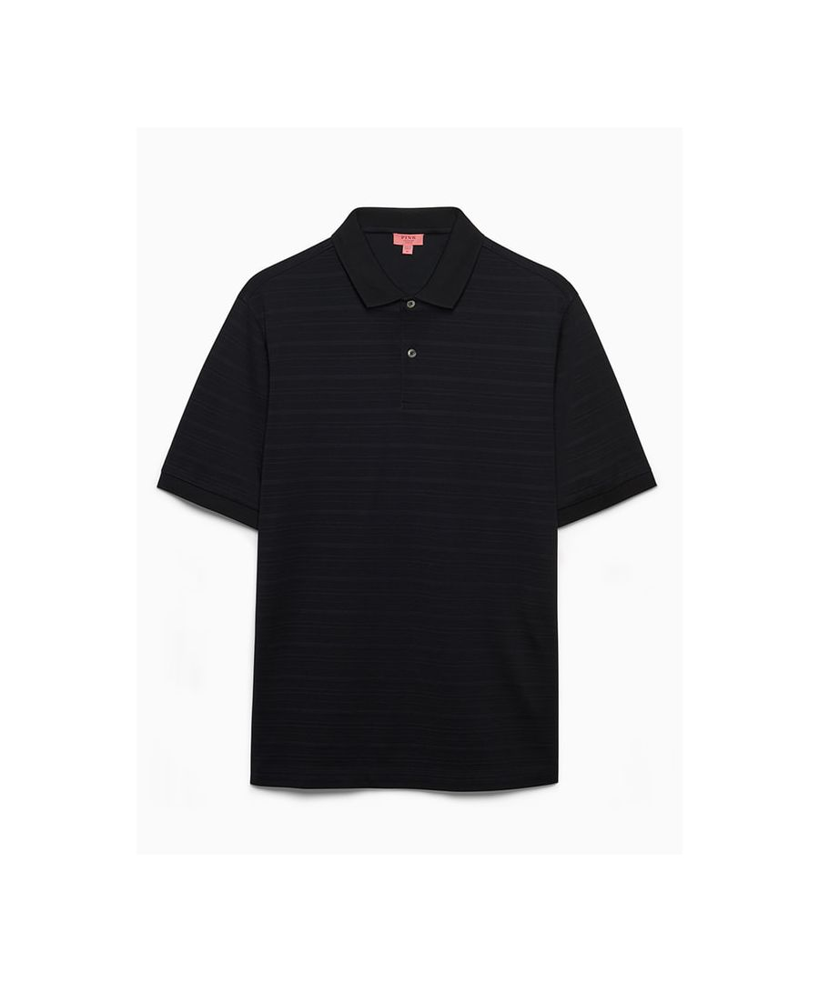 Image for Cotton Engineered Stripe Pique Polo