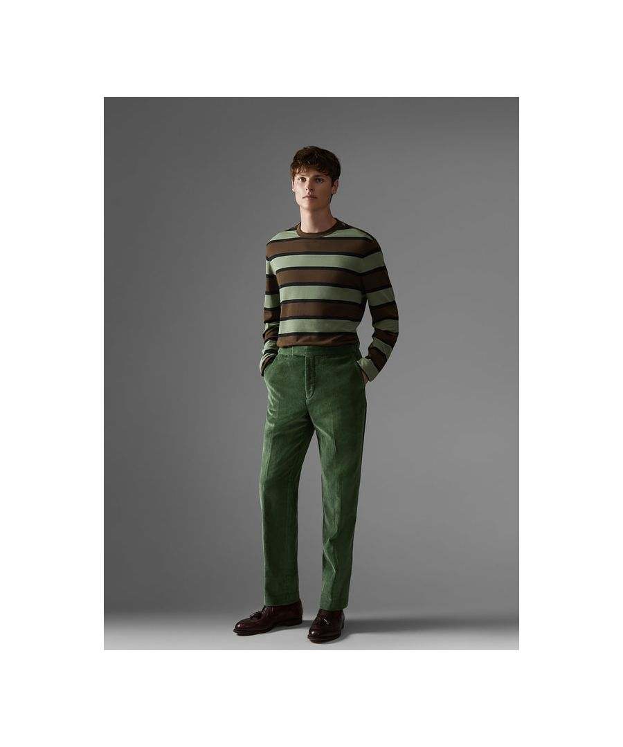 Image for Cotton Pique Rugby Stripe Long Sleeve T-Shirt