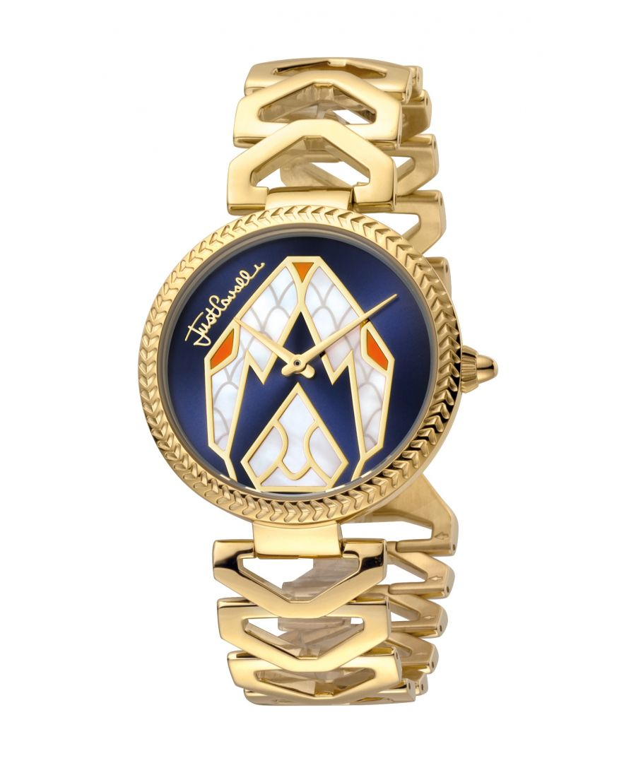 Image for Just Cavalli Womens Magnifica D.Blue Dial Stainless Steel Watch