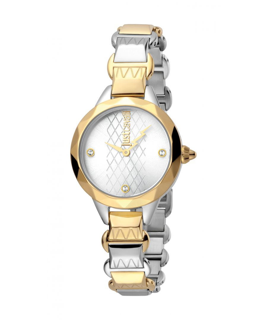 Image for Just Cavalli Womens Estro Silver  Dial Stainless Steel Watch