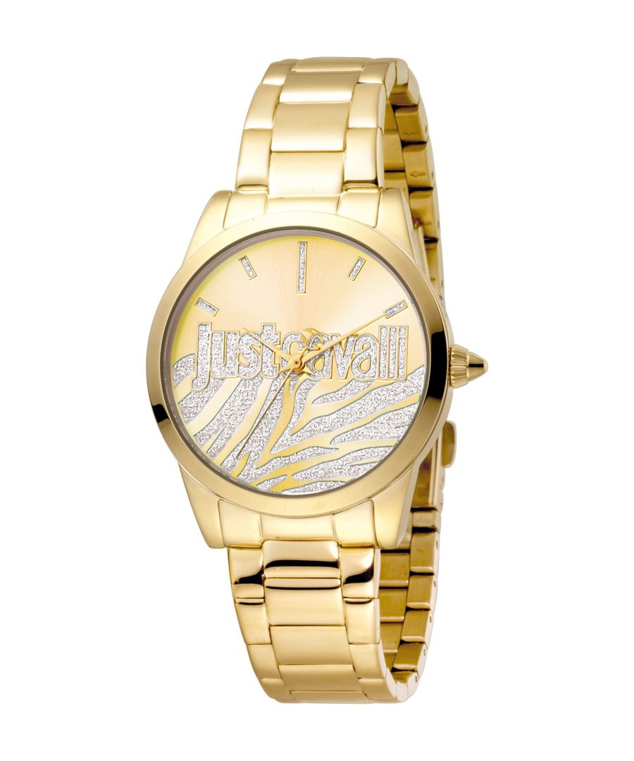 Image for Just Cavalli Womens Firma Champagne Dial Stainless Steel Watch