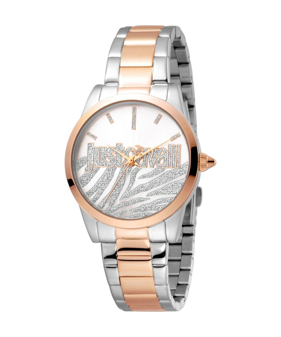 Image for Just Cavalli Womens Firma Silver  Dial Stainless Steel Watch
