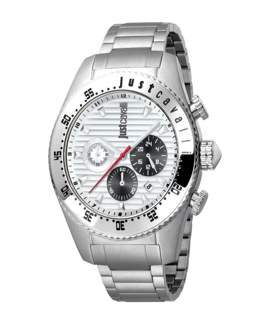 Image for Just Cavalli Mens Sport Silver Dial Stainless Steel Watch