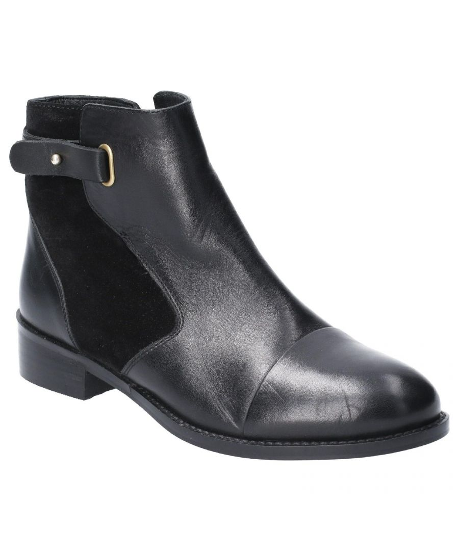 Image for Hush Puppies Women's Hollie Zip Up Leather Ankle Boot (Black)