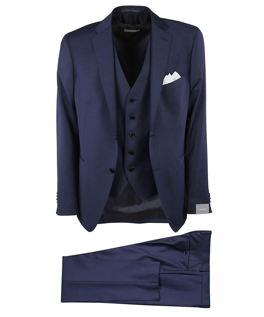 Image for CANTARELLI MEN'S 9064225824981100 BLUE WOOL SUIT