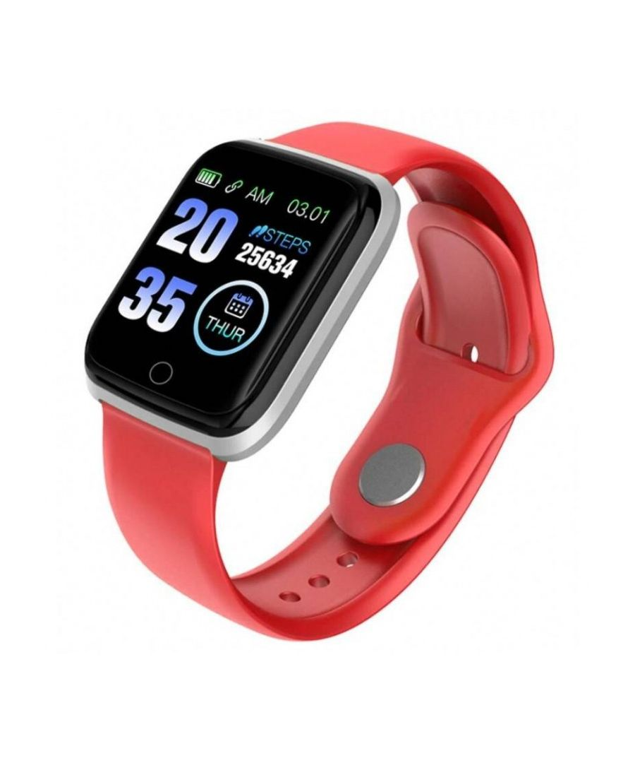 Image for LKS Unisex M6 Bluetooth Smart Watch, Red
