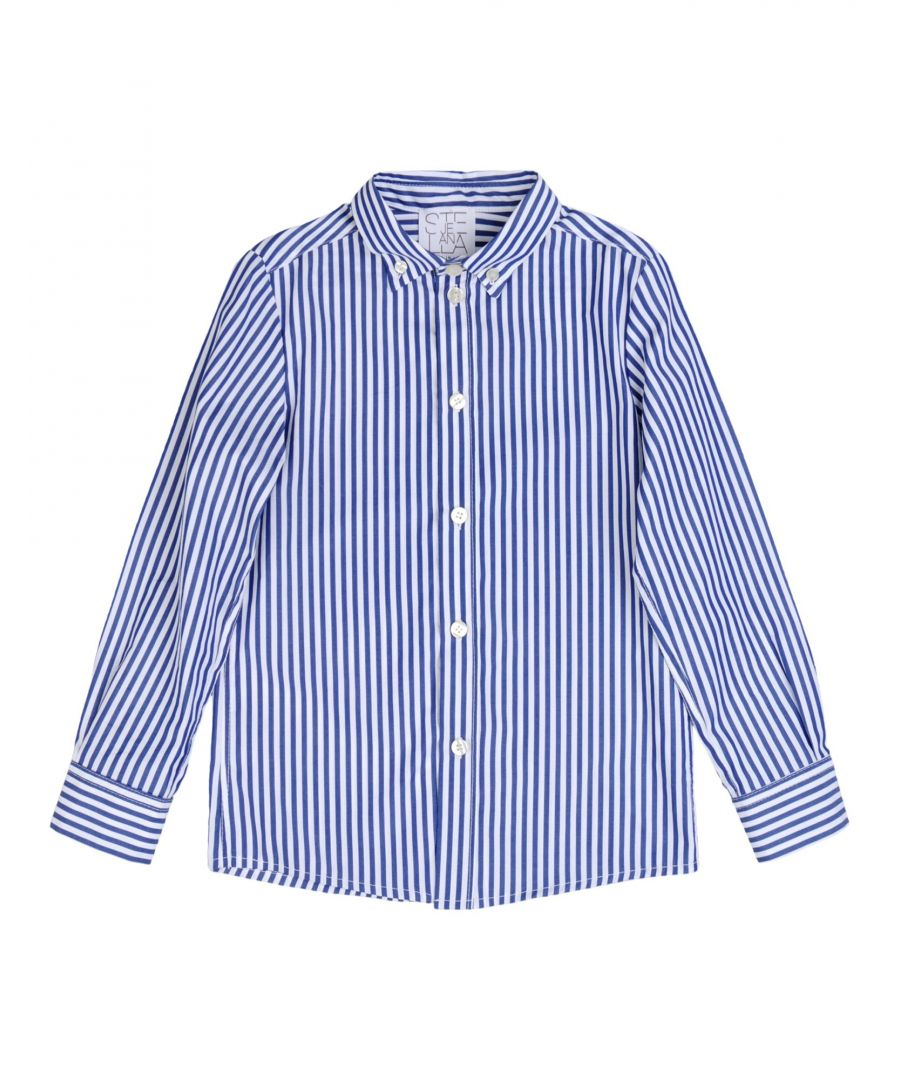Image for Stella Jean Boy Shirts Blue Cotton