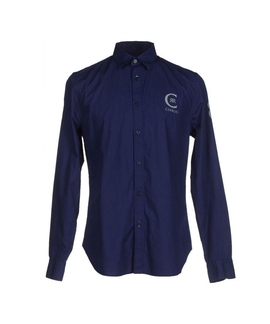 Image for Cerruti 1881 Man Shirts Dark blue Cotton