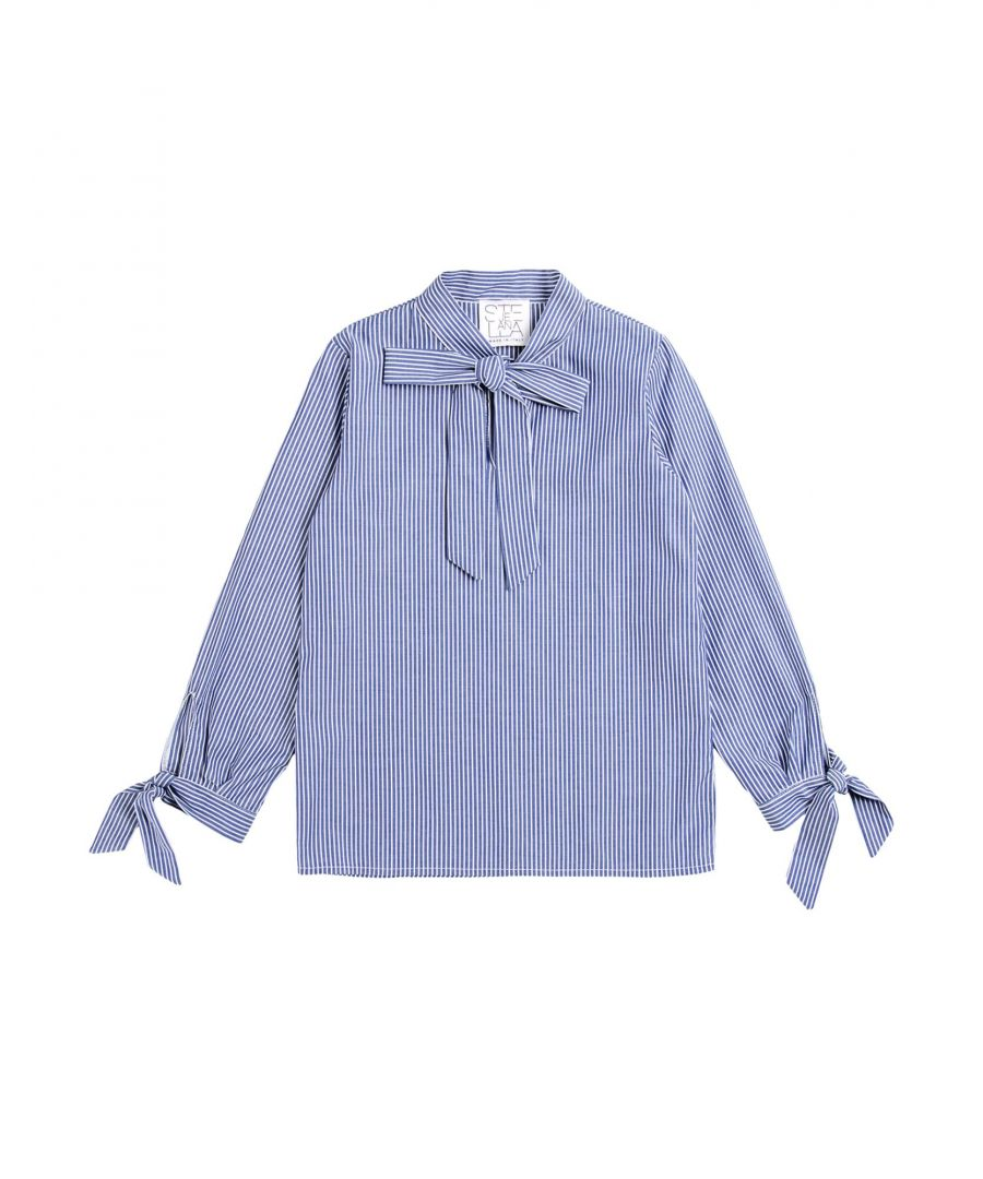 Image for Stella Jean Girl Blouses Azure Cotton