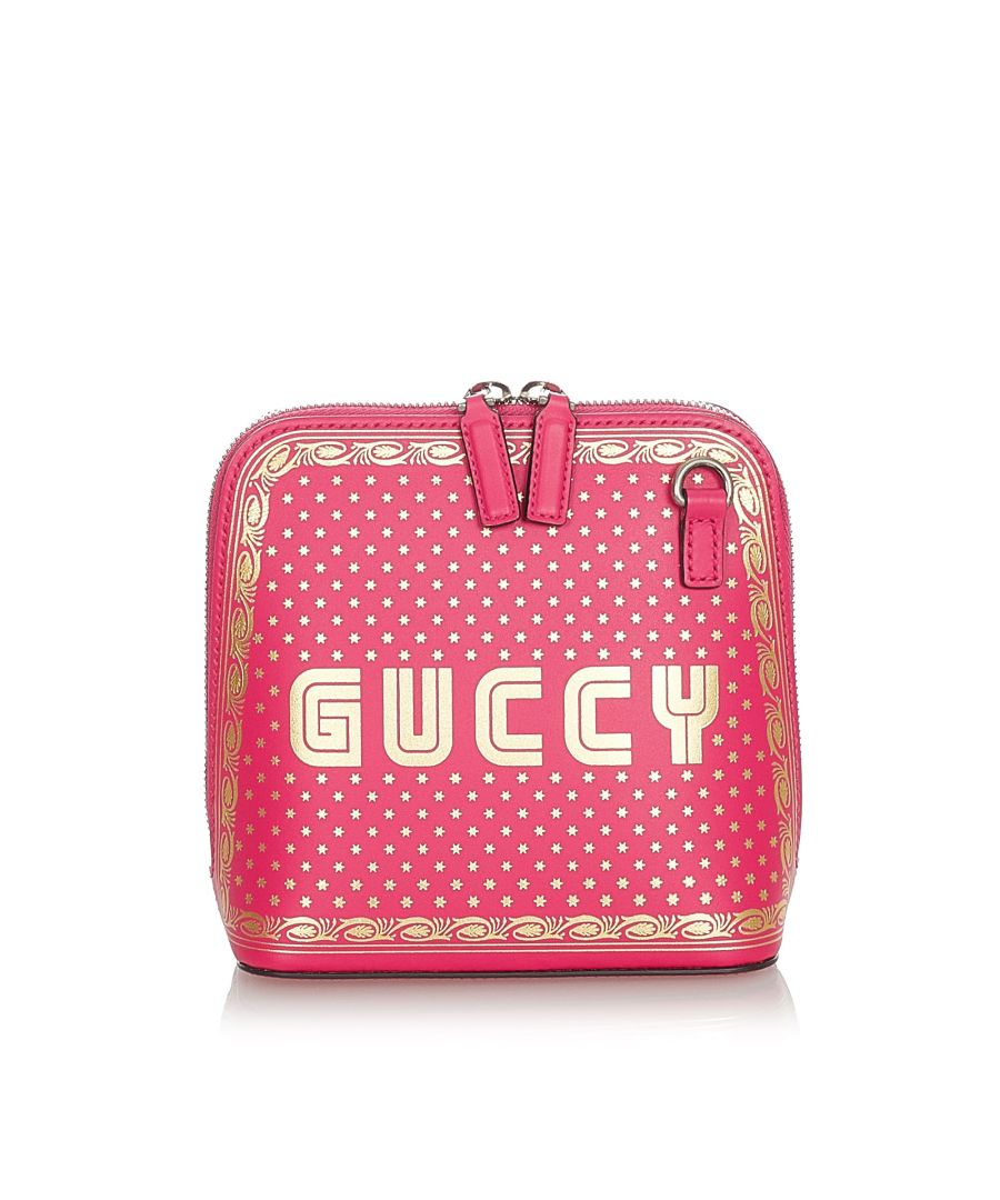 Image for Vintage Gucci Mini Guccy Sega Crossbody Bag Pink