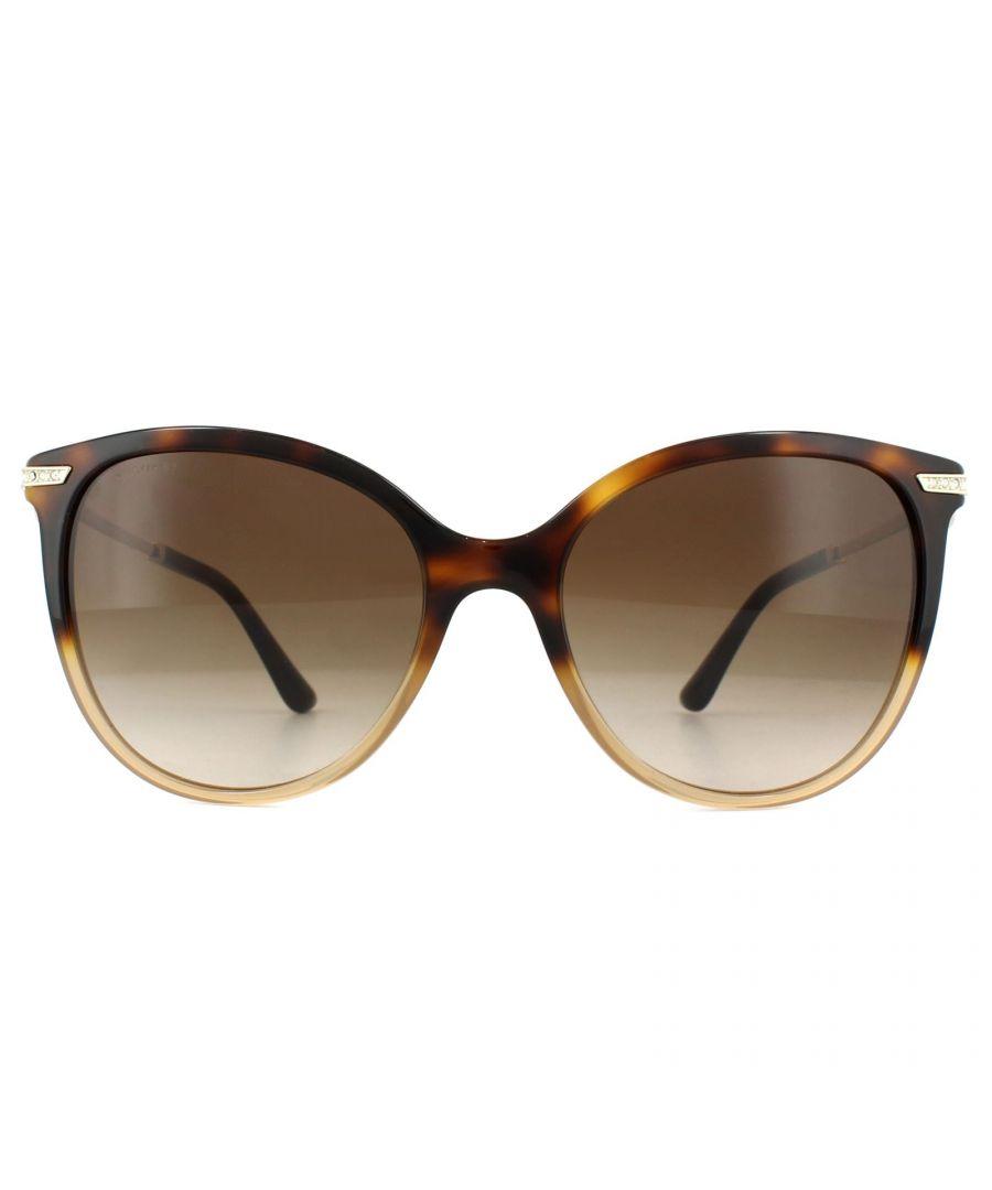 Image for Bvlgari Sunglasses BV8201B 536213 Havana Fade Brown Brown Gradient